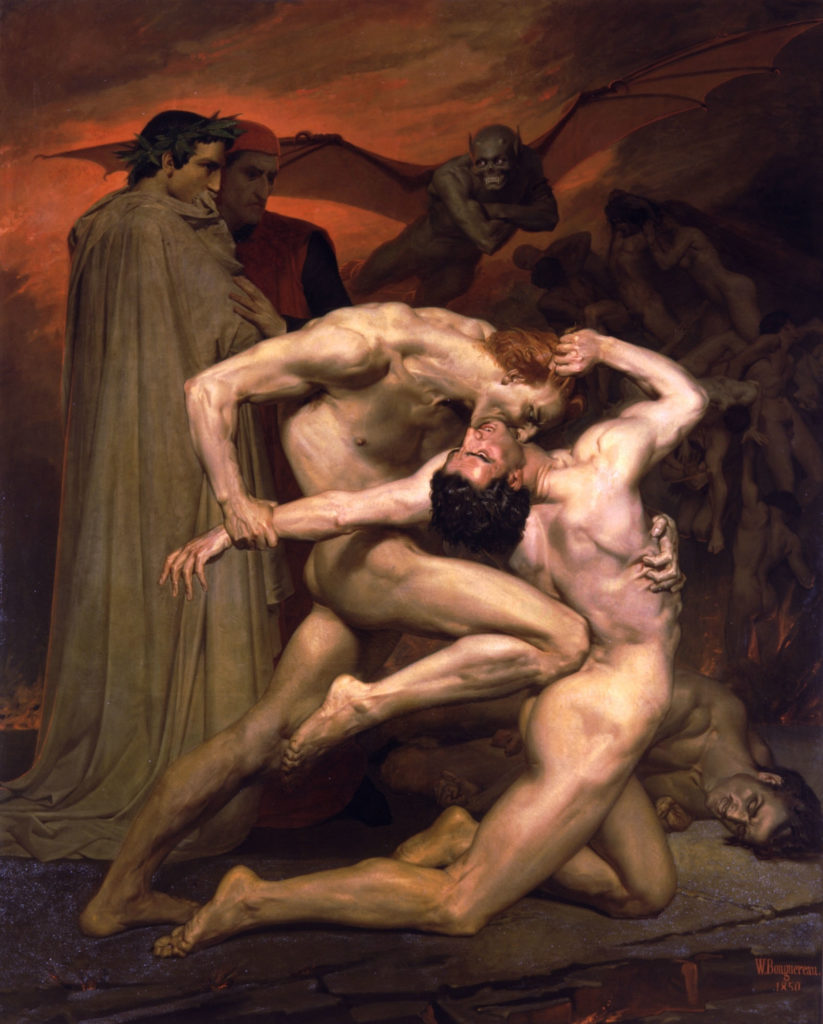 William Adolphe Bouguereau 1825 1905 Dante And Virgil In Hell 1850
